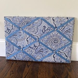 Beautiful Blue Paisley Bulletin Board
